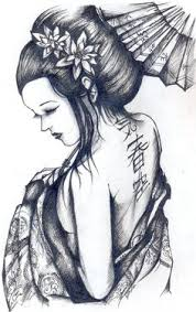geisha and hannya tattoo design by phrance89 tattoo lovers