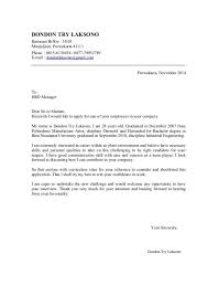 cover letter examples for entry level entry level cover letter