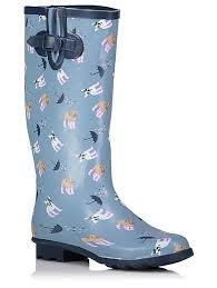 womens boots asda print wellington boots george