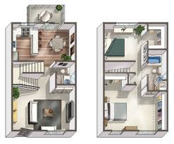Townhome Floor Plan by Two Bedroom Tustin Apartments For Rent Tustin Parc Apartments