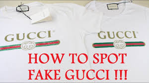how to spot a fake gucci t shirt authentic vs replica gucci