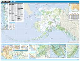 Sitka Alaska Map Rand Mcnally Alaska State Wall Map