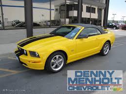 2006 Mustang Gt Black 2006 Screaming Yellow Ford Mustang Gt Premium Convertible
