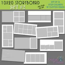 the linen collection 10x20 collage storyboard photoshop template