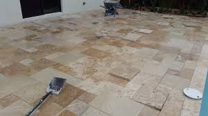Installing Patio Pavers On Sand How To Install Travertine Pavers On Sand Miami Travertine