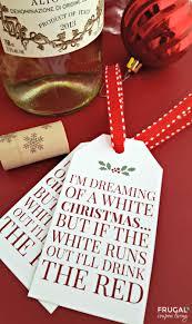 christmas wine free printable tag