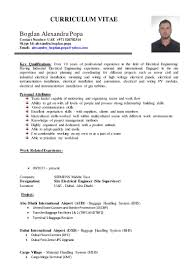Best Resume For Civil Engineer Fresher Curriculum Vitae Bogdan Alexandru Popa