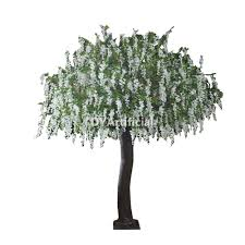 3 meters height cheap artificial white wisteria tree dongyi
