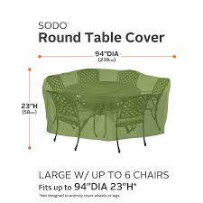 Extra Large Garden Furniture Covers - amazon com classic accessories sodo patio outdoor table u0026 chair