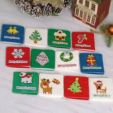 wholesale greeting cards merry christmas corrugated small greeting cards kids mini christmas