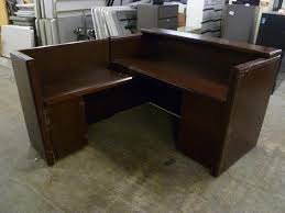 Wood Reception Desk Desk L Shaped Reception Desk Wood All Home Ideas And Decor L