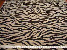 Fleur De Lis Home Decor by Richloom Zala Animal Stripe Chenille Upholstery Fabric Color Onyx