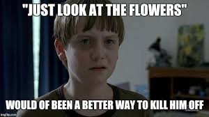 Look At The Flowers Meme - sam the walking dead imgflip