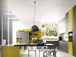 Grey And Yellow Kitchen Ideas Yellow And Gray Kitchen Cabinets With Drawers White Ceramic