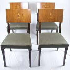 Art Deco Dining Room Chairs Dining 07006 Antique Art Deco Dining Table 6 Cloudback Chairs C