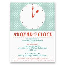 around the clock bridal shower modern times bridal shower invitation invitations by