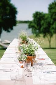 Potted Plants Wedding Centerpieces by Potted Plants As Wedding Centerpieces