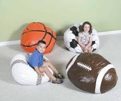 foam bean bag chairs sports themed pillow chairs