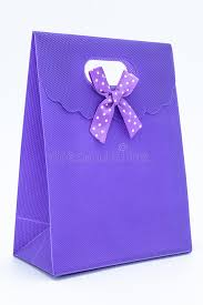 purple gift bags purple gift bag stock image image of celebrations container