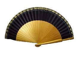 fancy fans golden and black fancy fan