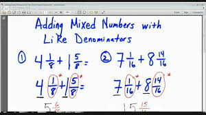 Handwriting Worksheets 4th Grade 4th Grade Adding Mixed Numbers With Like Denominators Lesson