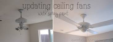 spray paint ceiling fan painting a white ceiling fan boatylicious org