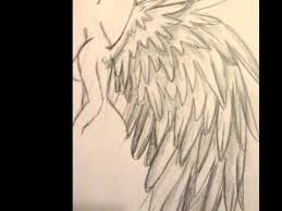 tutorial how to draw angel wings youtube