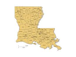 louisiana map with counties louisiana counties major cities powerpoint map maps for