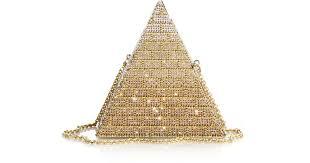 Swarovski Crystal Christmas Decorations Uk by Judith Leiber Khufu Swarovski Crystal Pyramid Clutch In Metallic