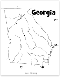 georgia map science pinterest social studies and learning