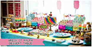 themed dessert table wreck it ralph party sugar dessert table part 2 party dessert