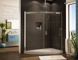 bathroom design corner shower stall kits with glass door and