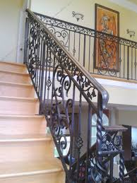 Iron Home Decor by Wrought Iron Stair Railing 3
