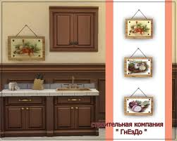 Decoupage Kitchen Cabinets Sims 3 By Mulena Paintings Kitchen