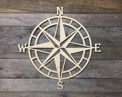 wood compass wall lighthouse decor etsy