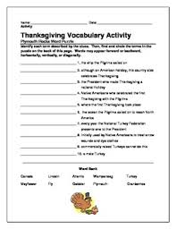 thanksgiving vocabulary activity word search puzzles word