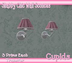 Shabby Chic Wall Sconce by Second Life Marketplace Cupids Shabby Chic Wall Sconce Lamps Pink