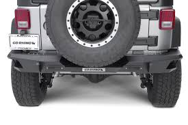 rhino jeep 2 door go rhino 27120t rear bumper with full end caps for 07 17 jeep