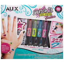 alex toys spa sketch it nail pen salon multi color amazon in