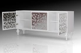 Buffet Furniture Modern by Versus Ambra Modern White 3 Door Buffet Vig Furniture Modern