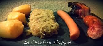 cuisiner la choucroute le chaudron magique monsieur cuisine la choucroute express