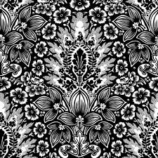 island rapture damask ink wallpaper tiles traditional