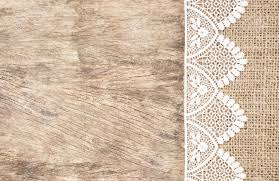 Wooden Table Texture Vector Burlap Texture With White Lace On Wooden Table Background Design