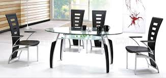 oval glass dining table contemporary dinette oval glass top table w optional chairs