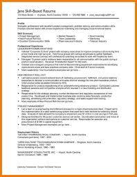 sample skill based resume executive summary example resume sample