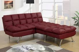 Burgundy Living Room Furniture by Red Leather Twin Size Sofa Bed Steal A Sofa Furniture Outlet Los