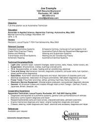 mechanical resume objective automotive mechanic resume example