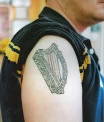 irish harp tattoo irish harp with zimbabwe colors in strin u2026 flickr
