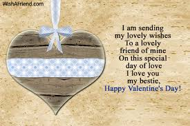 i am sending my lovely wishes to valentines day message for friends