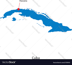Cuba World Map by Detailed Map Of Cuba And Capital City Havana Vector Image